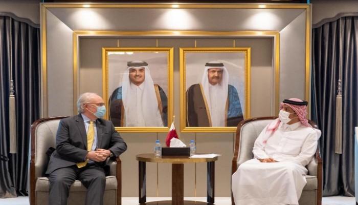 وزير الخارجية القطري يبحث مع ليندركينج تطورات الأزمة اليمنية