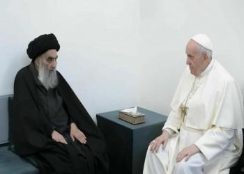 السيستاني اشترط عدم حضور أي مسؤول عراقي لقاءه مع البابا