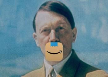 شارب هتلر يدفع أمازون لتغيير شعارها الجديد بسرعة