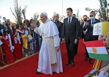 في آخر أيام زيارته التاريخية للعراق.. البابا فرنسيس يصل إلى أربيل