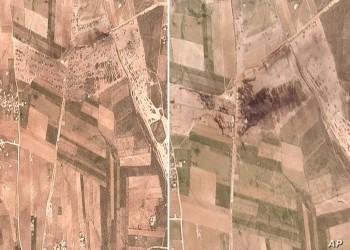 صور أقمار صناعية تظهر آثار الغارة على منشأة نفطية شمالي سوريا
