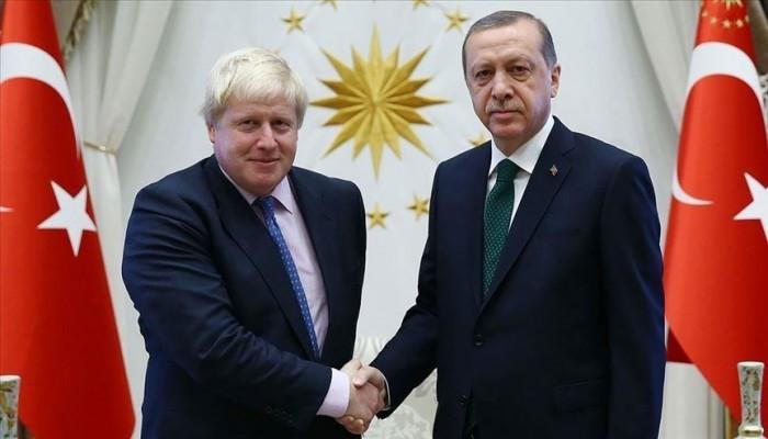 أردوغان وجونسون يبحثان قضايا التجارة وتعزيز العلاقات الثنائية
