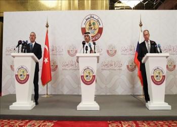 وزير خارجية قطر: اتفقنا مع تركيا وروسيا على دعم العملية السياسية في سوريا