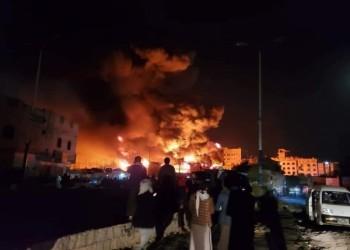 رايتس ووتش تتهم الحوثيين بالوقوف وراء حريق صنعاء