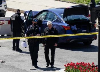 إغلاق مبنى الكونجرس بعد اختراق سيارة لحاجز أمني وإصابة ضابطين