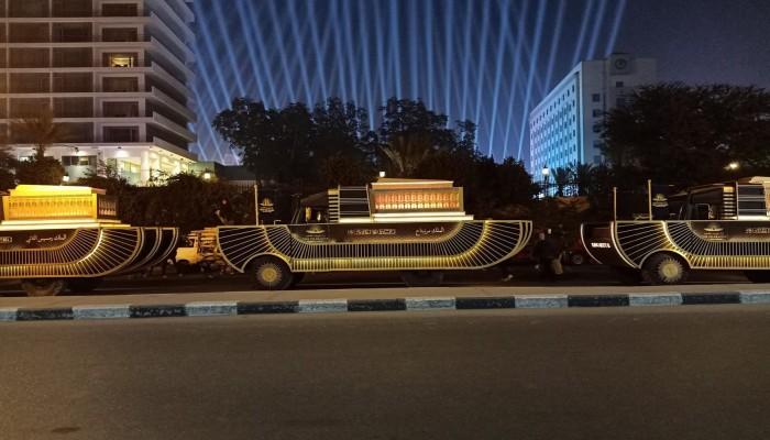 أنظار العالم نحو ميدان التحرير لمتابعة نقل مومياوات فرعونية