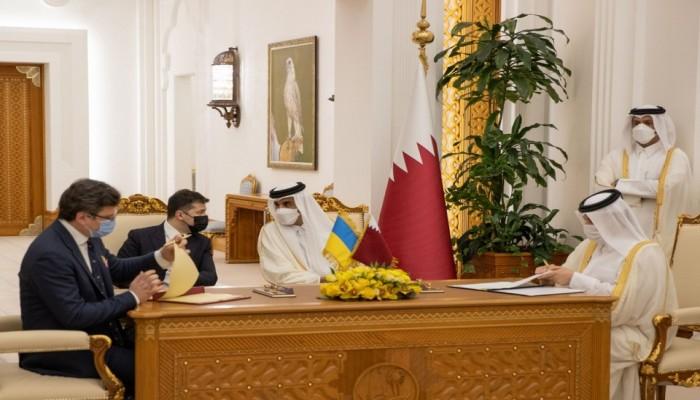 أمير قطر والرئيس الأوكراني يوقعان عددا من اتفاقيات التعاون (صور)