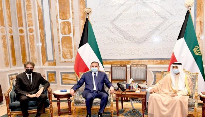 الشيخ نواف يبحث مع الدبيبة العلاقات الثنائية والملف الليبي