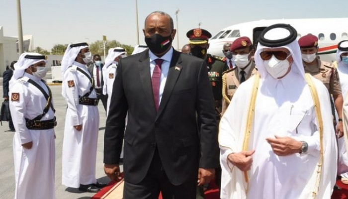 رئيس السيادي السوداني يصل الدوحة لإجراء مباحثات مع أمير قطر