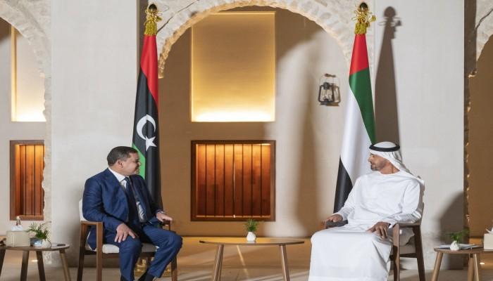 أبوظبي.. محمد بن زايد يلتقي الدبيبة ويتحدث عن عزمه دعم ليبيا