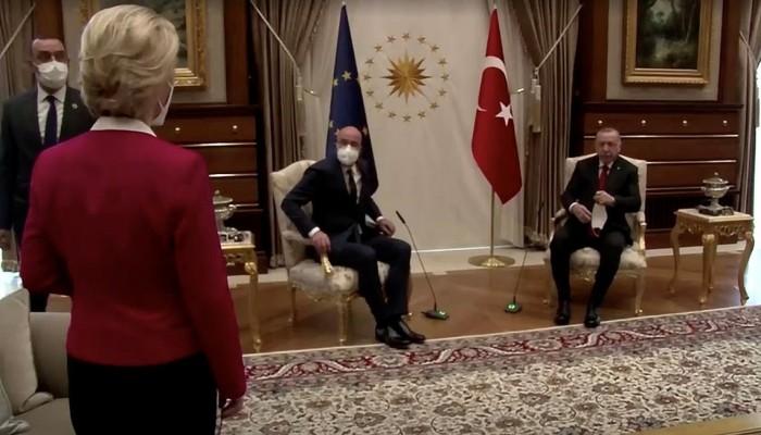 تركيا تعلق على الحادث البروتوكولي خلال لقاء أردوغان برئيسة المفوضية الأوروبية