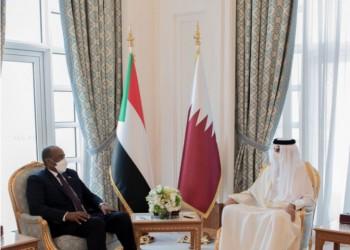 أمير قطر ورئيس مجلس السيادة السوداني يبحثان العلاقات الثنائية