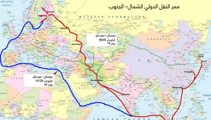 البدائل تتوالى.. مسار شحن منافس لقناة السويس يمر عبر روسيا وإيران