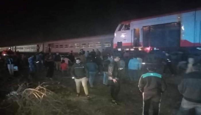 الصحة المصرية: 15 مصابا في حادث قطار الشرقية.. ولا وفيات