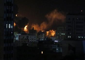 لليلة الثانية على التوالي.. قصف إسرائيلي عنيف على غزة (فيديو)