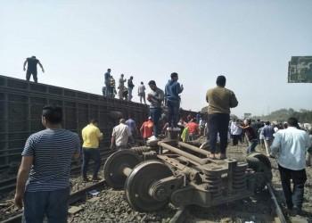 مصر.. 8 قتلى ونحو 100 جريح حصيلة مبدئية لخروج قطار عن القضبان قرب طوخ
