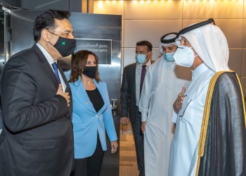 رئيس حكومة تصريف الأعمال اللبنانية يصل إلى قطر