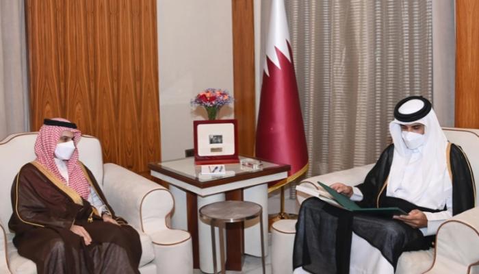 الأولى بعد قمة العلا.. الملك سلمان يدعو أمير قطر لزيارة السعودية