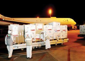 تحمل لقاحات مضادة لكورونا.. طائرة المساعدات الإماراتية الثالثة تصل إلى سوريا