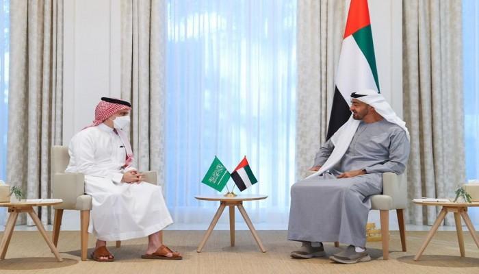 بن زايد يبحث مع وزير الخارجية السعودي مستجدات الخليج والشرق الأوسط