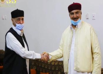 بعد خلافات.. عقيلة صالح يلتقي حفتر ويبحث معه مستجدات ليبيا