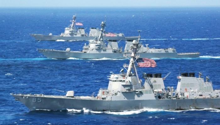 سفن تابعة للأسطول السادس الأمريكي تتوجه إلى البحرين