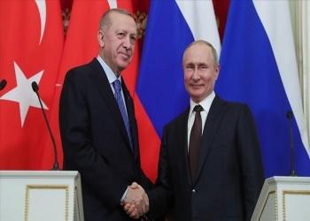 أروغان وبوتين يبحثان الأزمة السورية وتطوير العلاقات