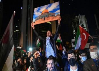 إسطنبول.. الآلاف يتظاهرون أمام قنصلية إسرائيل دعما للقدس