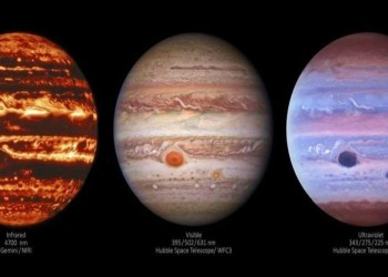 شاهد صور لكوكب المشترى بتقنية جديدة