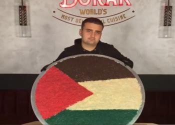 كنافة بعلم فلسطين.. الشيف بوراك يدعم انتفاضة القدس