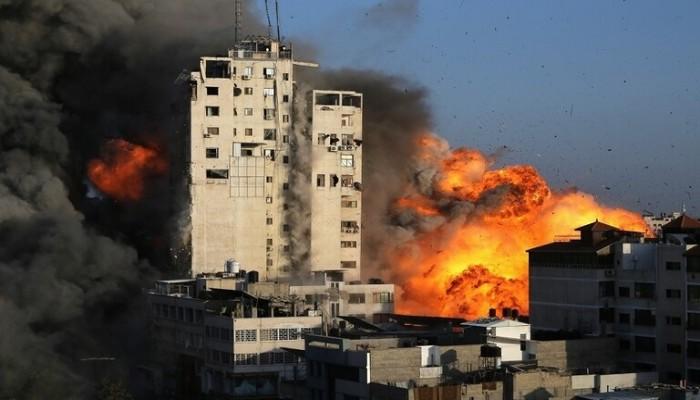 بينها الجزيرة وأسوشيتدبرس.. الاحتلال يدمر برجا رابعا وسط غزة يضم مكاتب إعلامية
