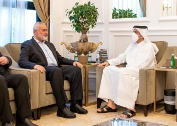 خلال استقباله هنية.. وزير الخارجية القطري يدعو لوقف الاعتداءات الإسرائيلية