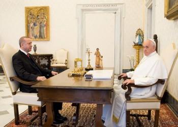 أردوغان لبابا الفاتيكان: المذابح ضد الفلسطينيين ستستمر ما لم تعاقب إسرائيل