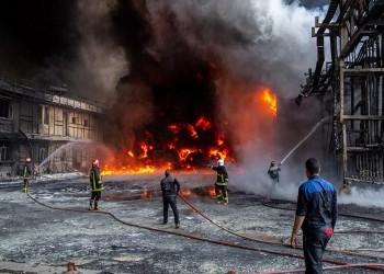 إصابة 9 في انفجار مصنع كيماويات وسط إيران