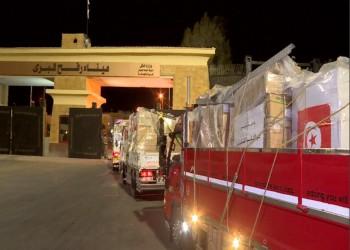 مصر تفتح معبر رفح لعبور مساعدات تونسية عاجلة للفلسطينيين (صور)