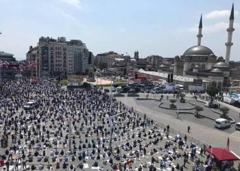 بعد 27 عاما.. أردوغان يحقق حلمه ويفتتح مسجد تقسيم بإسطنبول