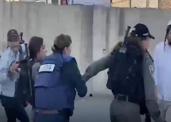 الاحتلال يعتقل مراسلة الجزيرة جيفارا البديري بحي الشيخ جراح بعد الاعتداء عليها (فيديو)