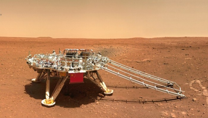 الصين ترفع علمها على سطح المريخ
