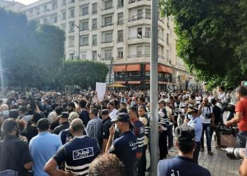 مسيرة احتجاجية بالعاصمة التونسية تنديدا بقمع قوات الأمن