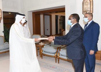 أمير قطر يتلقى رسالة خطية من رئيس المجلس الانتقالي في تشاد