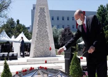 أردوغان: إفشال محاولة انقلاب 15 يوليو انتصار للحق على الباطل