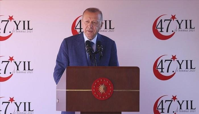 أردوغان: مقترح قبرص التركية لحل الدولتين فرصة تاريخية