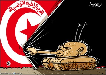 قيس سعيد أستاذ القانون الدستوري يهدد بالرصاص!