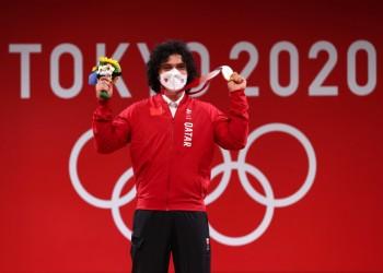 أمير قطر يهنئ فارس إبراهيم لإحرازه أول ذهبية أولمبية لبلاده