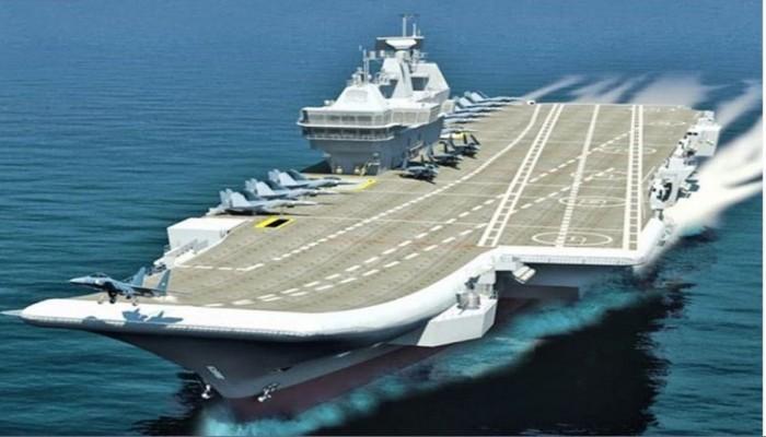 شاهد.. الهند تطلق أول حاملة طائرات خاصة بها