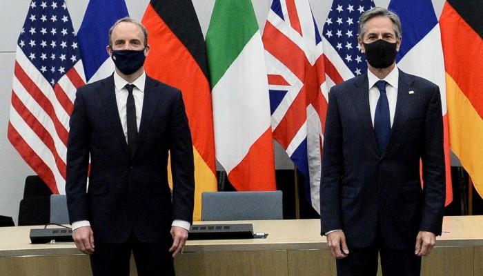بلينكن بحث مع وزير خارجية بريطانيا ردا منسقا على هجوم إيران ببحر العرب