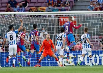 المباراة الأولى بدون ميسي.. برشلونة يفوز على ريال سوسيداد بالأربعة