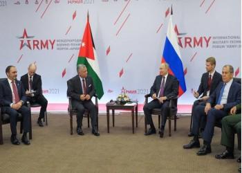 بوتين يبحث مع ملك الأردن الأوضاع في سوريا وأفغانستان