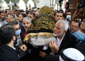 مشاركة لافتة.. هنية ومشعل يحضران جنازة قيادي من حماس بالأردن