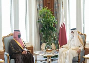 أمير قطر ورئيس وزرائه يبحثان مع وزير الداخلية السعودي التعاون الأمني